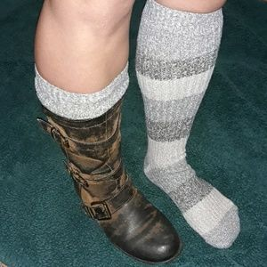 Gray Striped Knee High Socks COLUMBIA